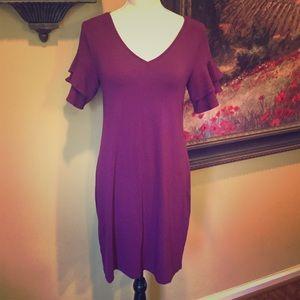 White House Black Market- Magenta Knit Dress. SZ S